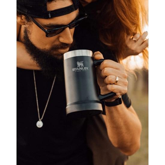 Caneca Térmica de Cerveja Matte Black | 0,709L