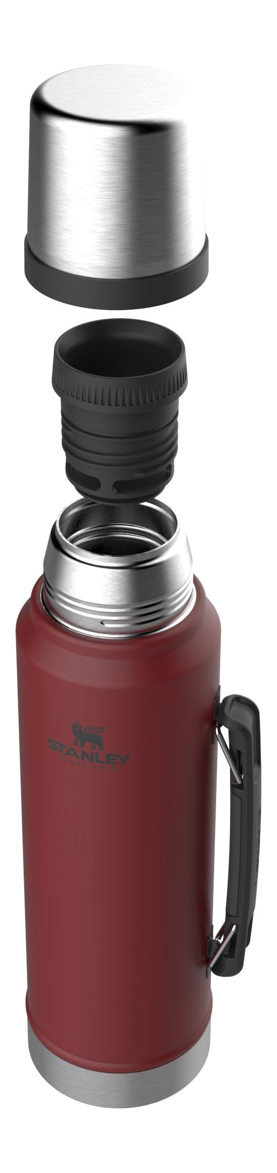 Garrafa Térmica Classic 1L - Hammertone Crimson